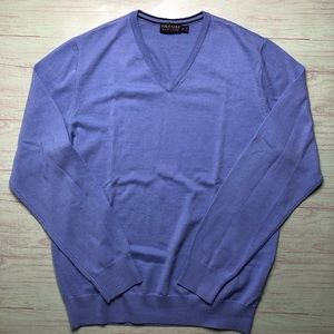Polo Golf Ralph V-neck Merino Wool Sweater Size M